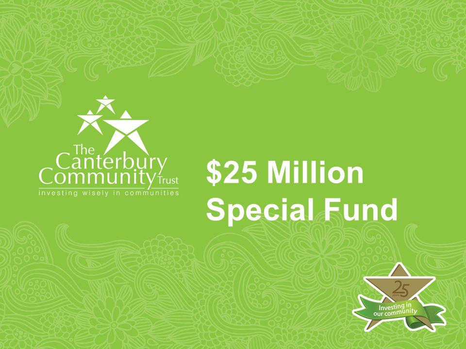 $25 Million Special Fund