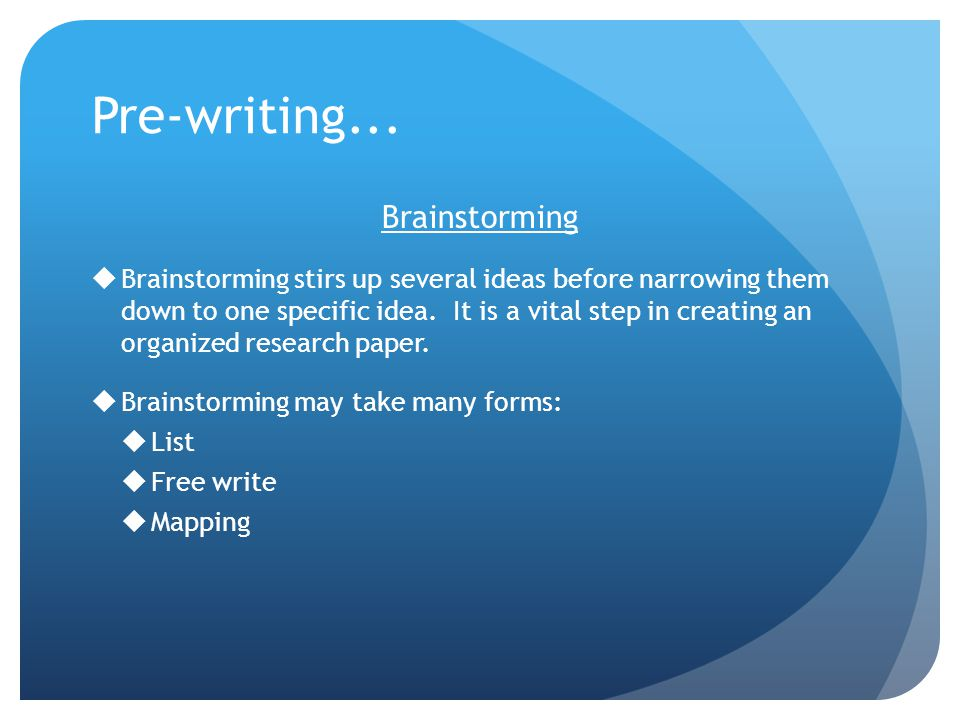 steps of writing a thesis