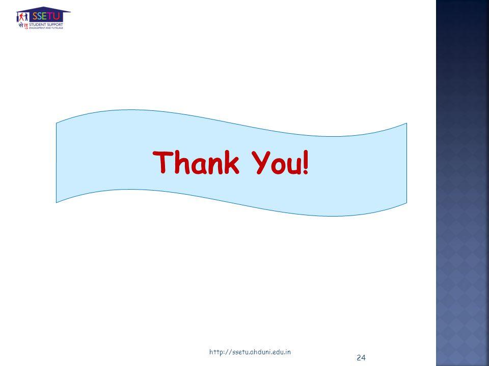 http://ssetu.ahduni.edu.in Thank You! 24