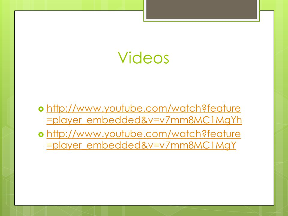 Videos http://www.youtube.com/watch feature =player_embedded&v=v7mm8MC1MgYh http://www.youtube.com/watch feature =player_embedded&v=v7mm8MC1MgYh http://www.youtube.com/watch feature =player_embedded&v=v7mm8MC1MgY http://www.youtube.com/watch feature =player_embedded&v=v7mm8MC1MgY
