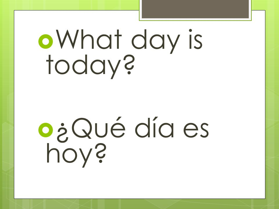 Days of the week: Dont capitalize them in Spanish! Friday viernes