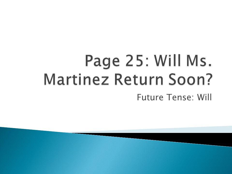 Future Tense: Will