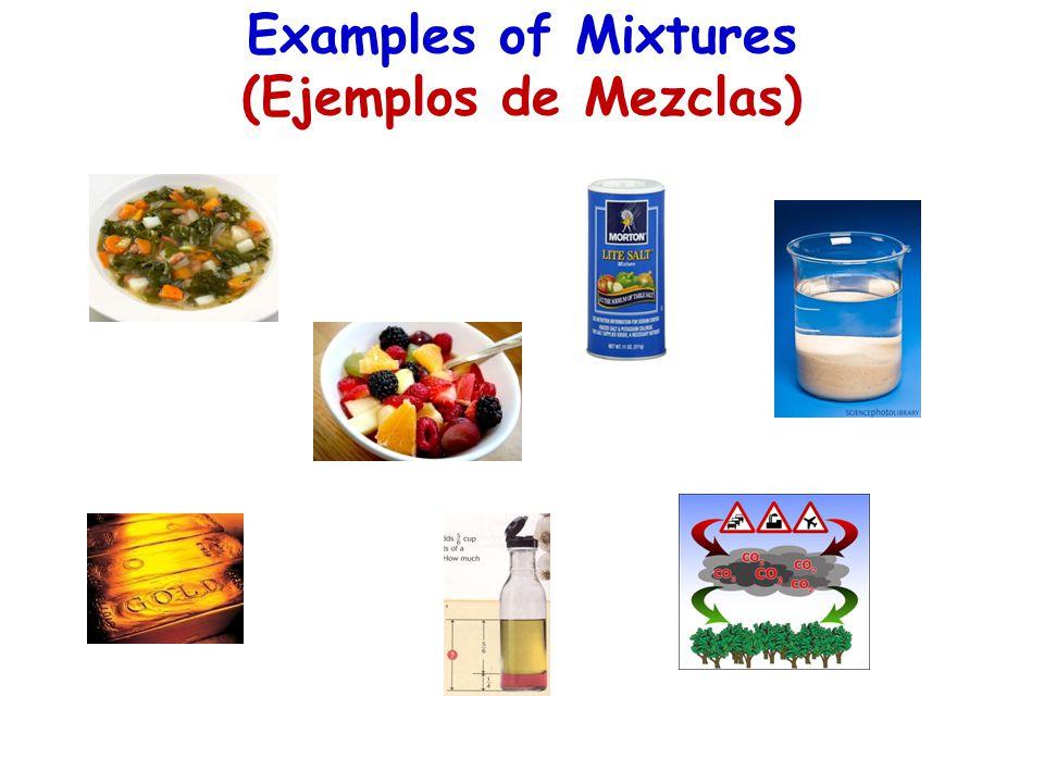 Examples of Mixtures (Ejemplos de Mezclas)