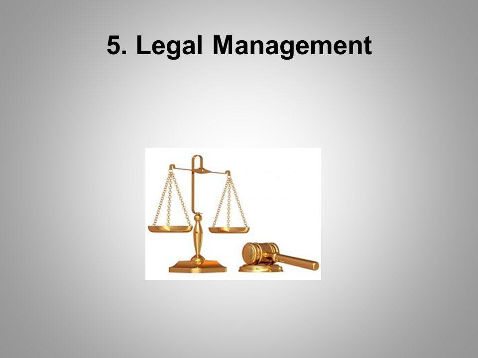 5. Legal Management