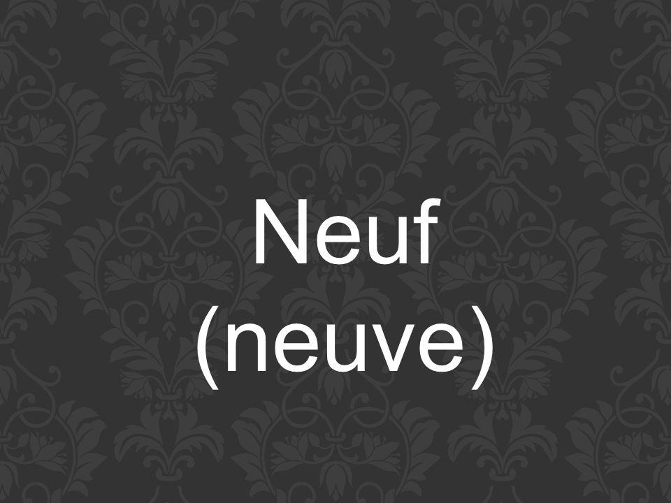 Neuf (neuve)