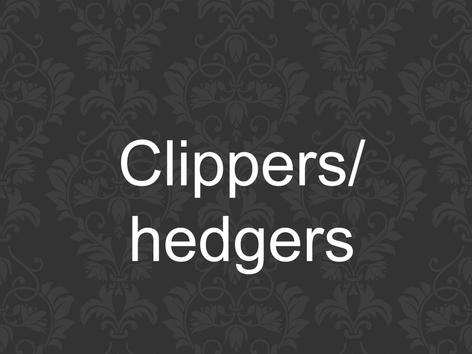 Clippers/ hedgers