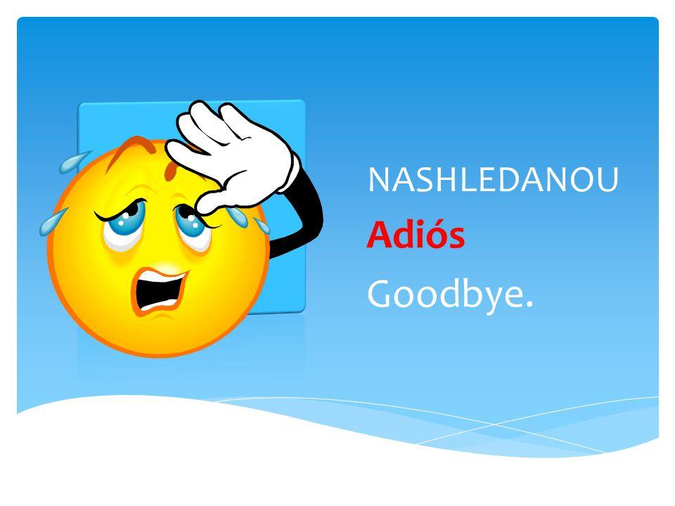 NASHLEDANOU Adiós Goodbye.