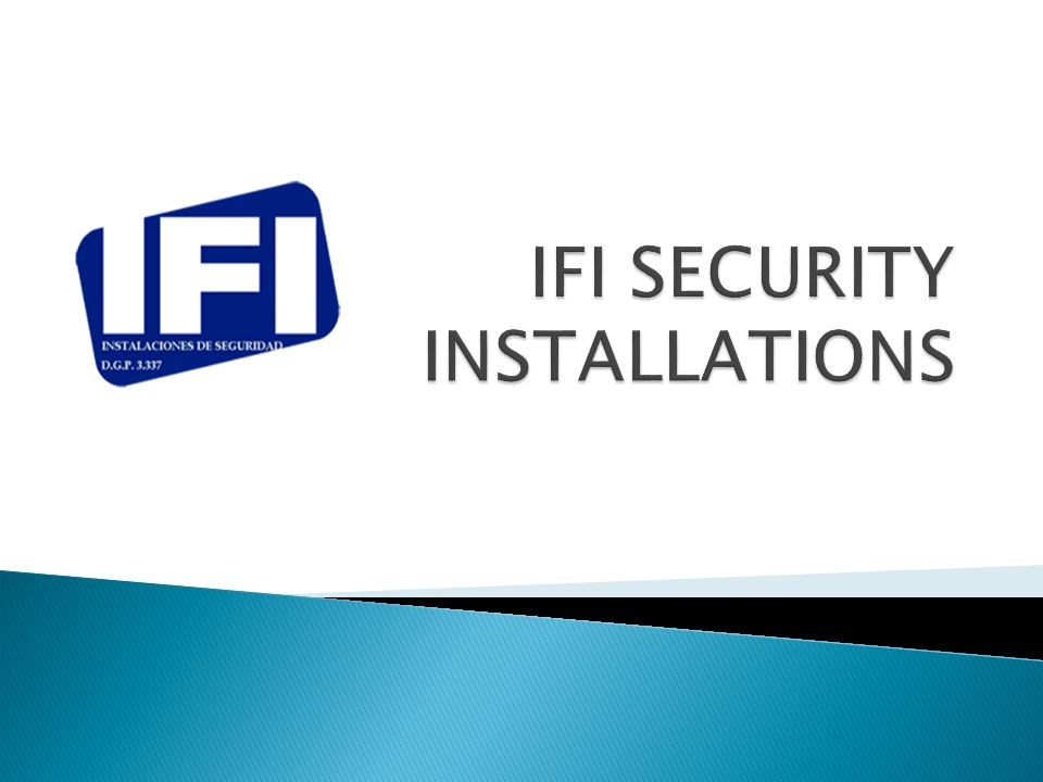 IFI is a Spanish security installations company experienced in all kind of systems for a safer project.