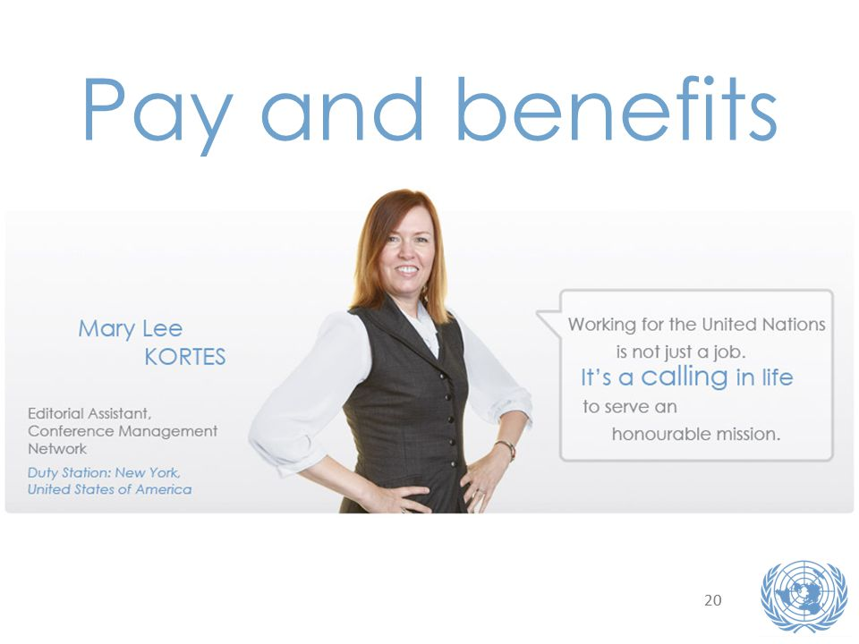 20 Pay and benefits