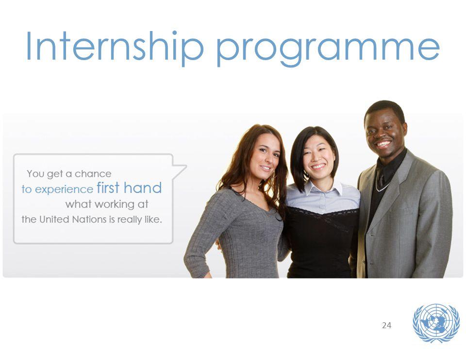 24 Internship programme