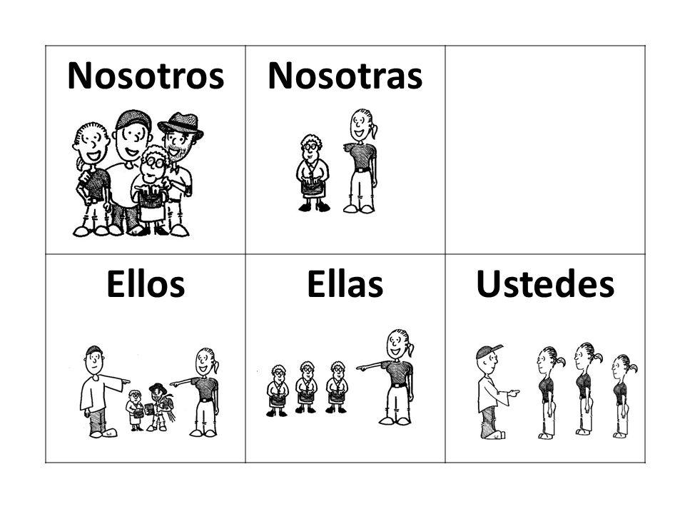 NosotrosNosotras EllosEllasUstedes