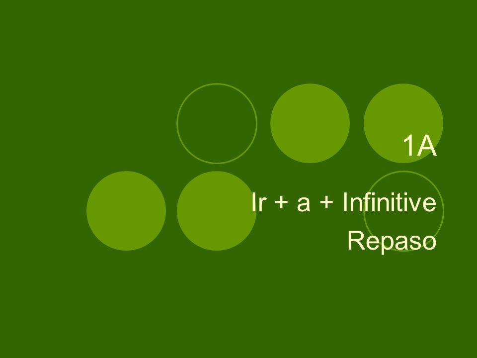 1A Ir + a + Infinitive Repaso