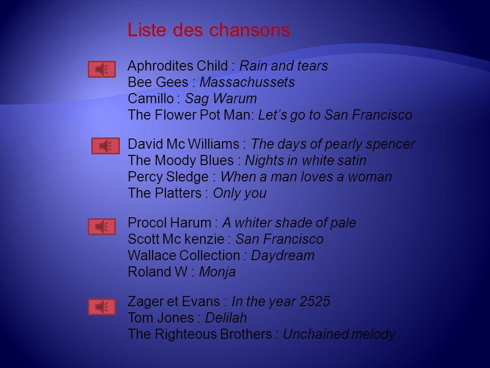 Les plus grands slows des années 60 - 70 Réalisation MOUTHUY Philippe Février 2010