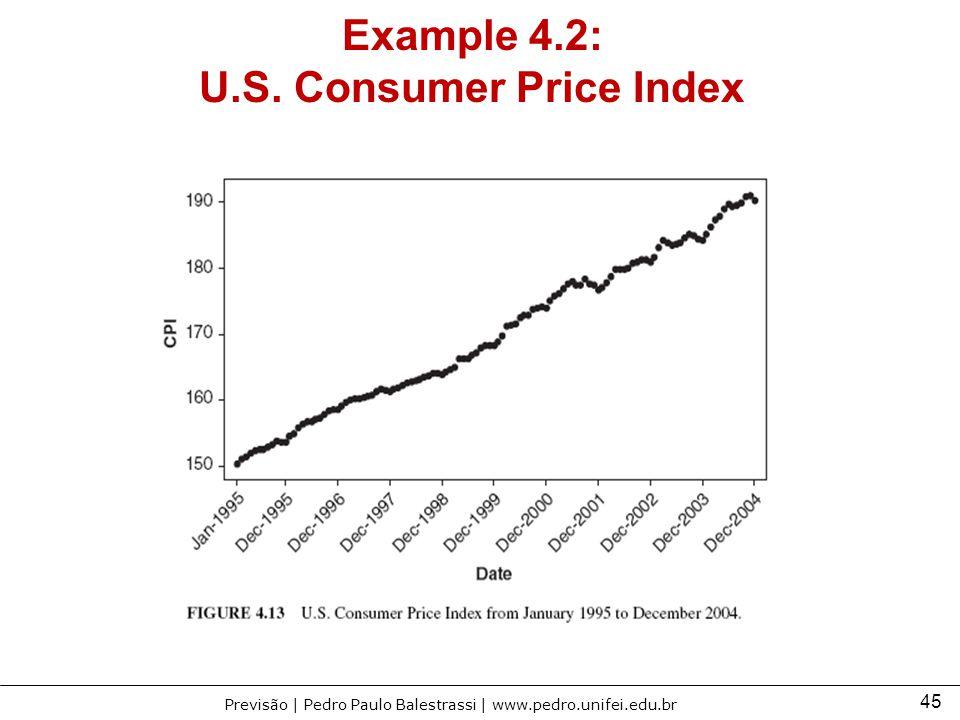 45 Previsão | Pedro Paulo Balestrassi | www.pedro.unifei.edu.br Example 4.2: U.S. Consumer Price Index