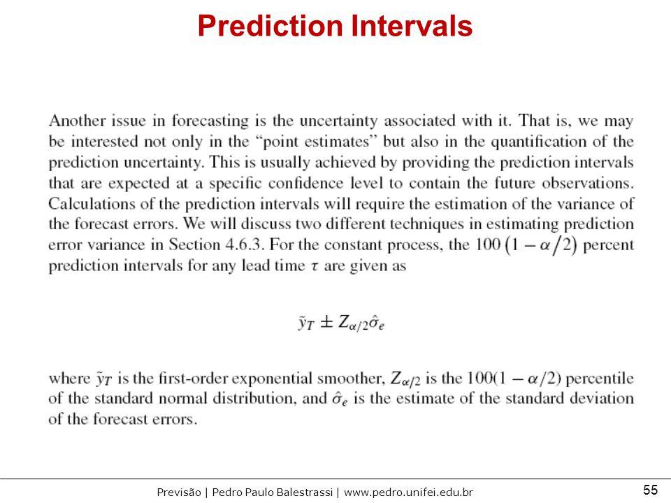 55 Previsão | Pedro Paulo Balestrassi | www.pedro.unifei.edu.br Prediction Intervals