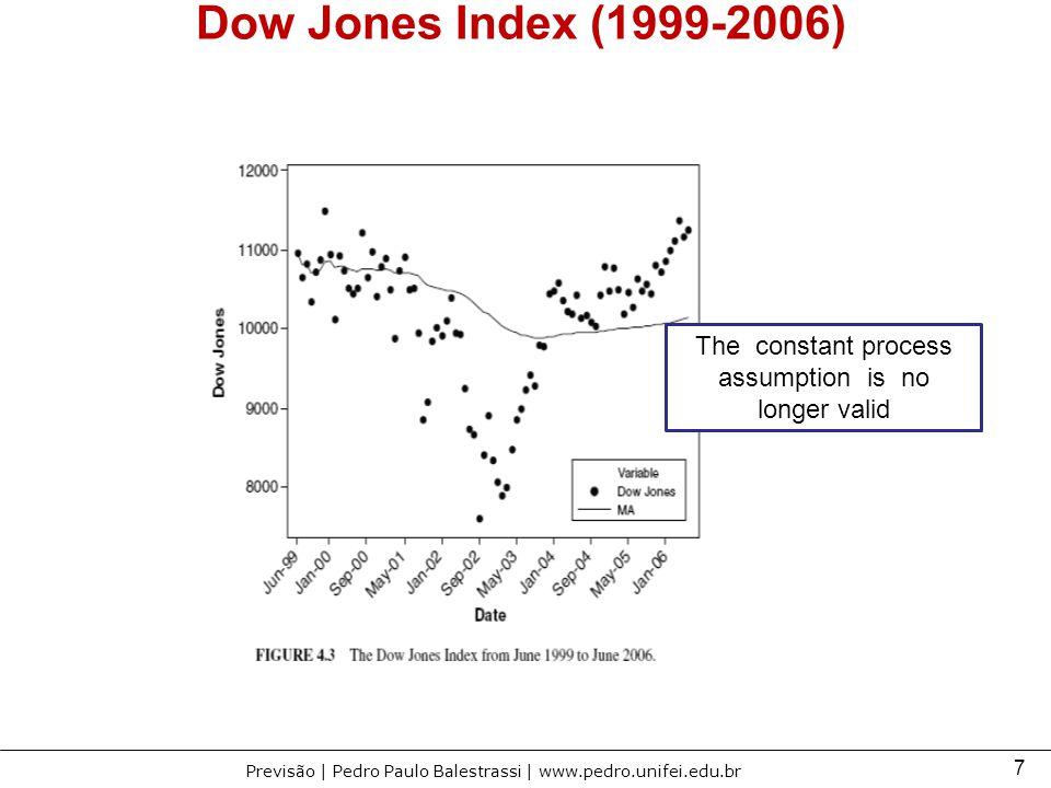 7 Previsão | Pedro Paulo Balestrassi | www.pedro.unifei.edu.br Dow Jones Index (1999-2006) The constant process assumption is no longer valid