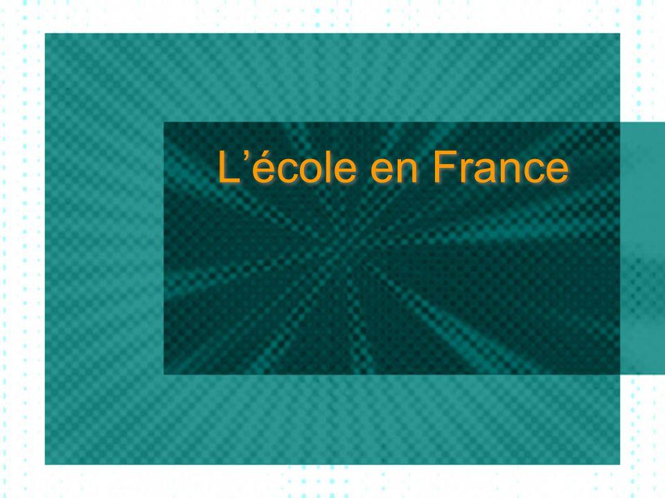 Lécole en France