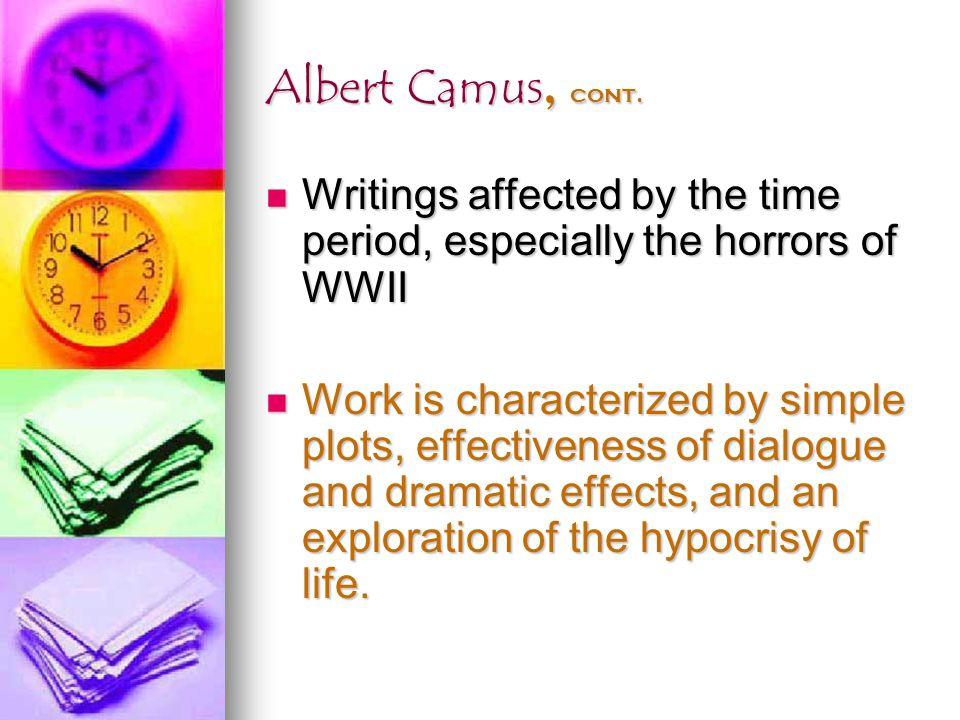 Albert Camus, cont.