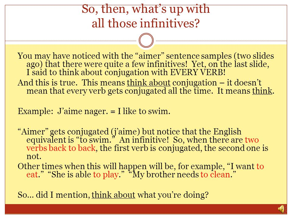 Refresher: Why do we conjugate? You may ask yourself, why do we need to learn all these different endings – we dont have to do this in English! Well,