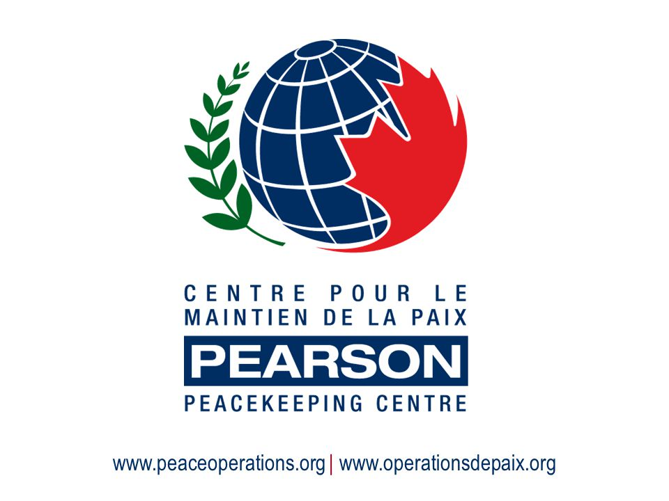 www.peaceoperations.org | www.operationsdepaix.org