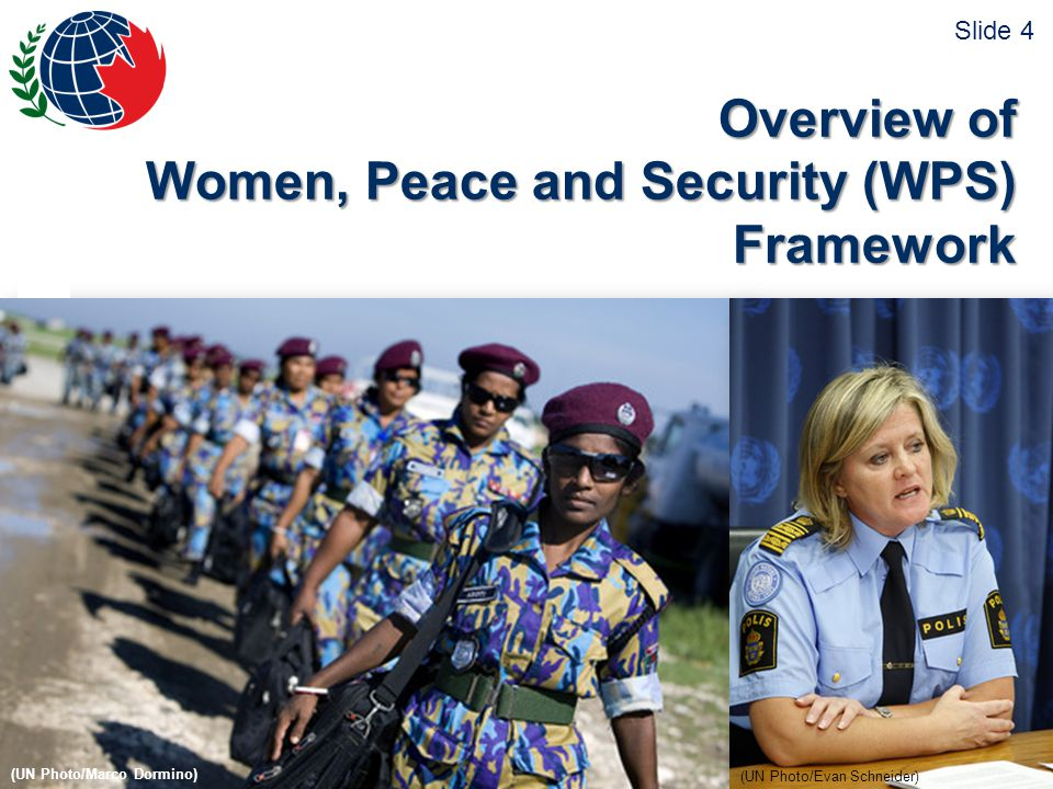 © 2011 Pearson Peacekeeping Centre Centre Pearson pour le maintien de la paix www.peaceoperations.org | www.operationsdepaix.org 5 UNSCR Representation Participation Protection Gender Training Resolution 1325 Preventing and Responding to SGBV Deploying more female police and military personnel Resolution 1820 Slide 5