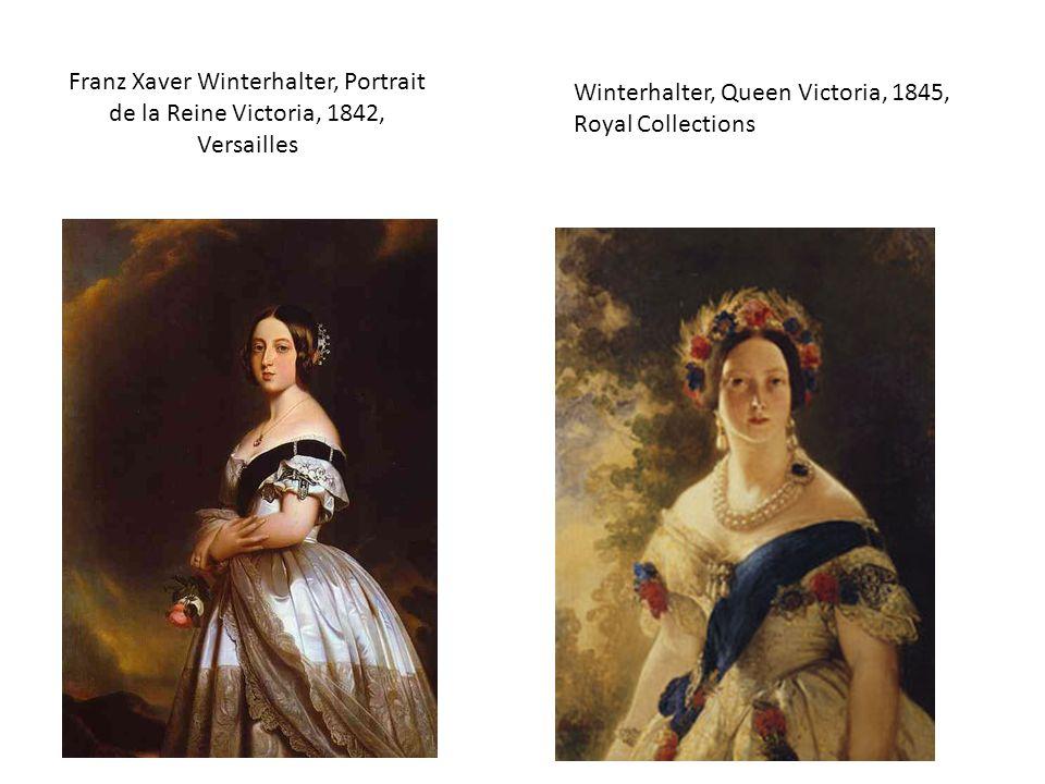Franz Xaver Winterhalter, Portrait de la Reine Victoria, 1842, Versailles Winterhalter, Queen Victoria, 1845, Royal Collections