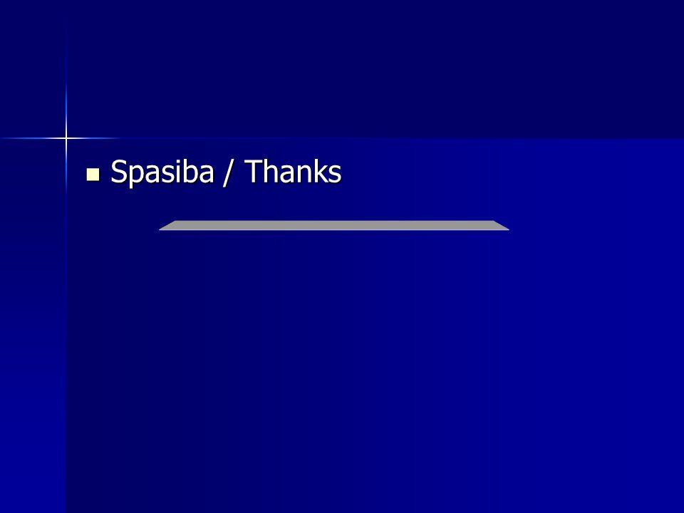 Spasiba / Thanks Spasiba / Thanks