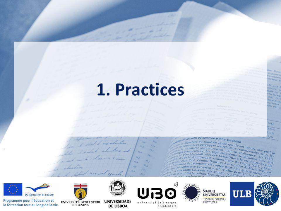 1. Practices