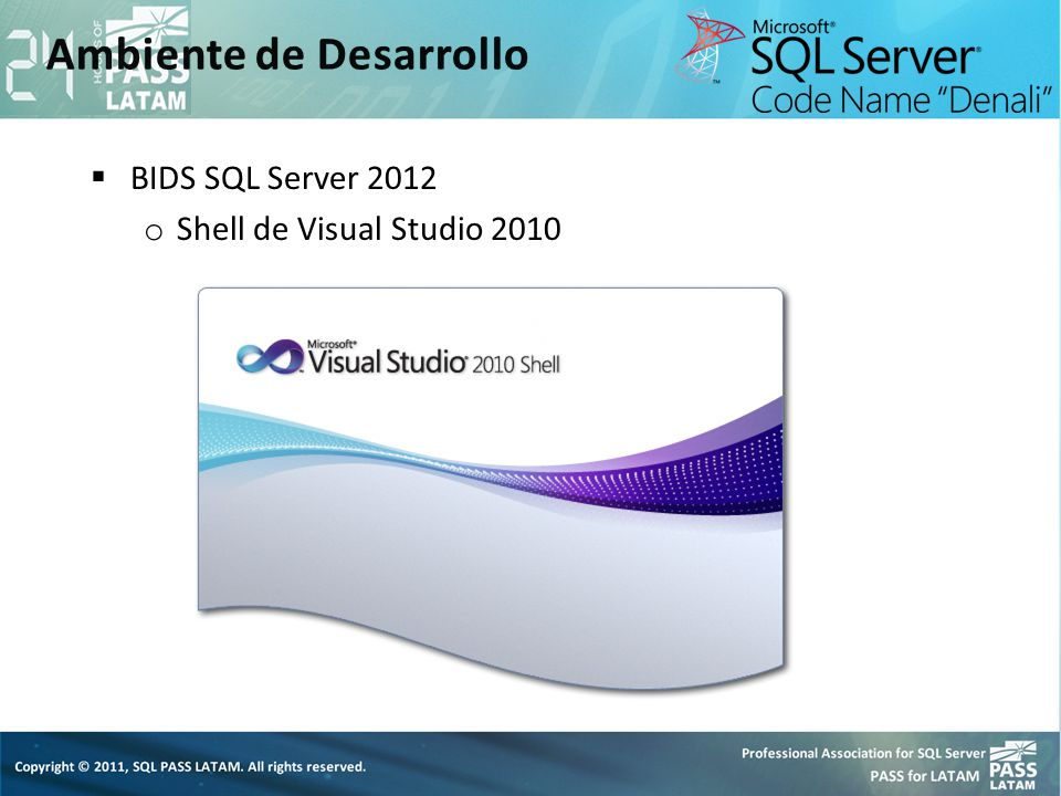 BIDS SQL Server 2012 o Shell de Visual Studio 2010