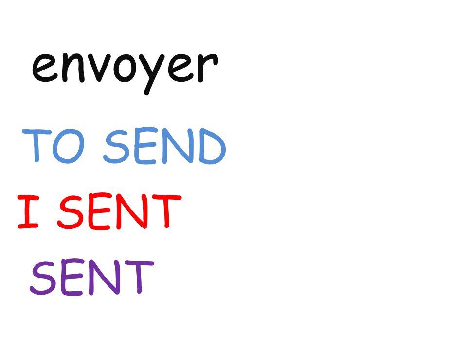 envoyer TO SEND I SENT SENT