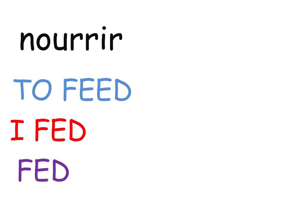 nourrir TO FEED I FED FED