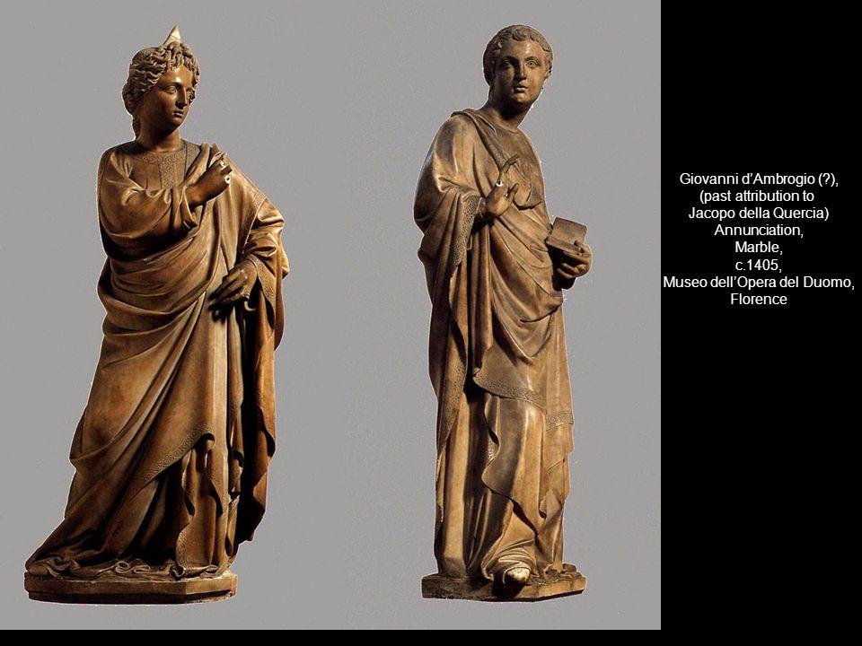 Giovanni dAmbrogio (?), (past attribution to Jacopo della Quercia) Annunciation, Marble, c.1405, Museo dellOpera del Duomo, Florence