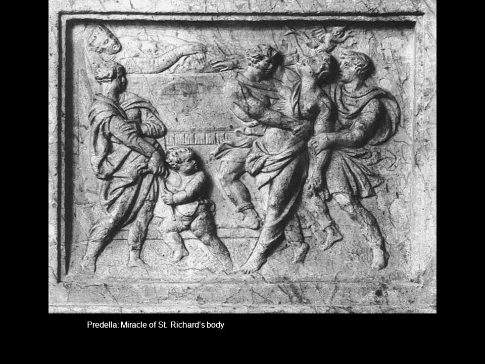 Predella: Miracle of St. Richards body