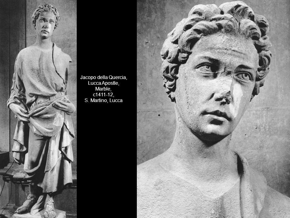 Jacopo della Quercia, Lucca Apostle, Marble, c1411-12, S. Martino, Lucca