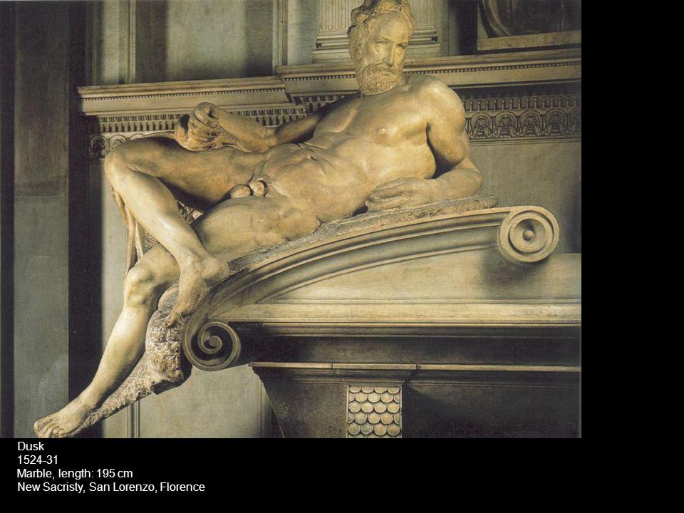 Dusk 1524-31 Marble, length: 195 cm New Sacristy, San Lorenzo, Florence