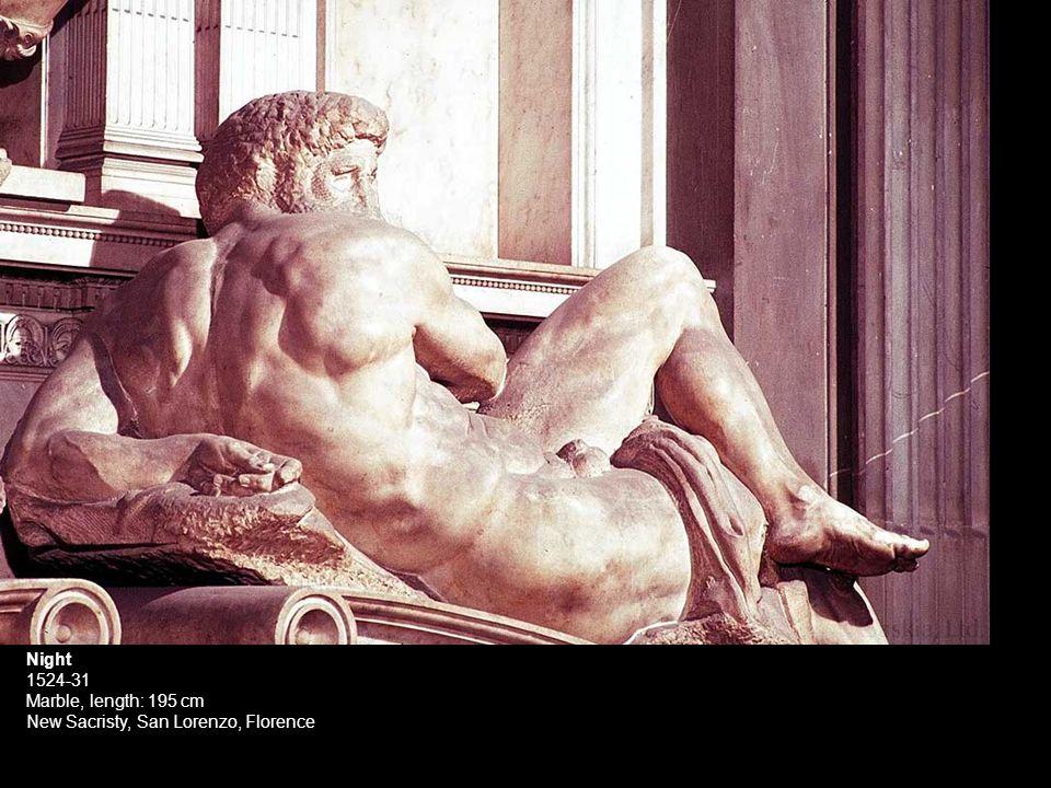 Night 1524-31 Marble, length: 195 cm New Sacristy, San Lorenzo, Florence