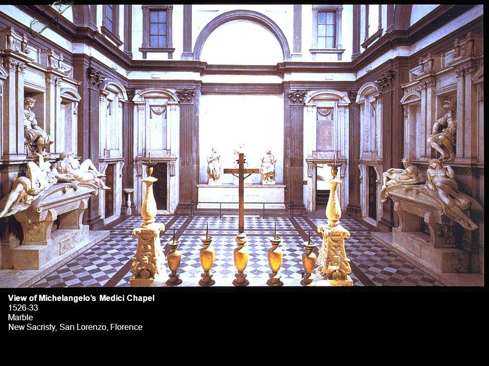 View of Michelangelos Medici Chapel 1526-33 Marble New Sacristy, San Lorenzo, Florence
