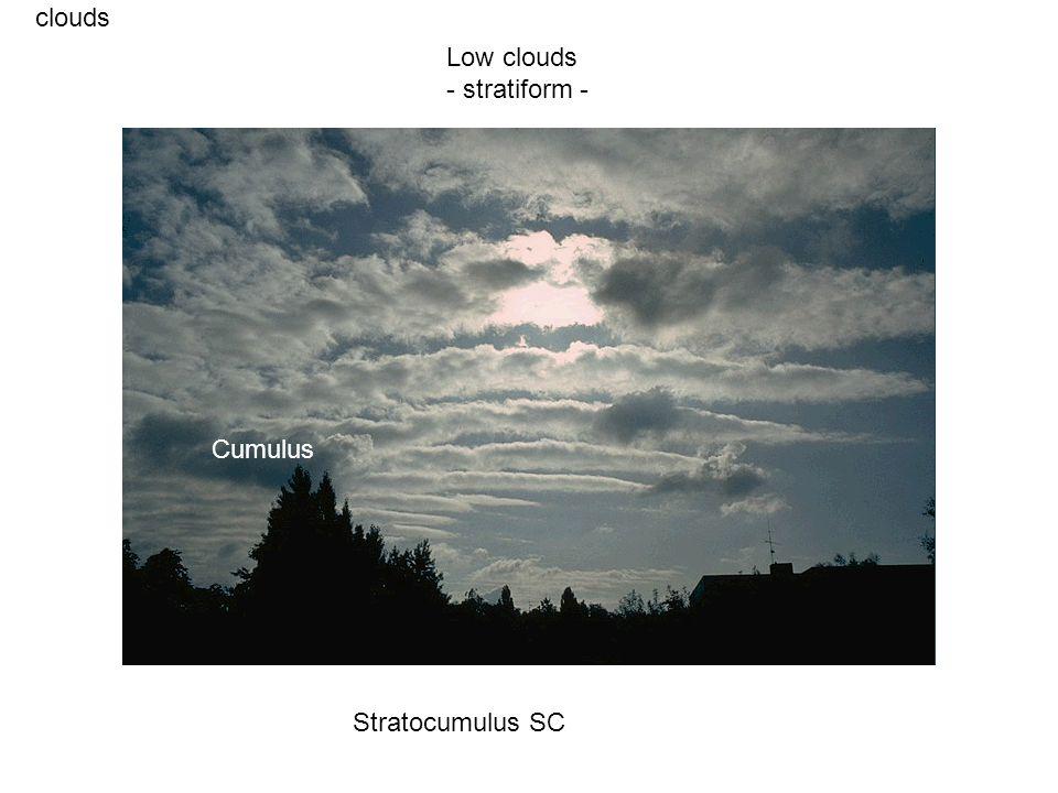 clouds Stratocumulus SC Low clouds - stratiform - Cumulus