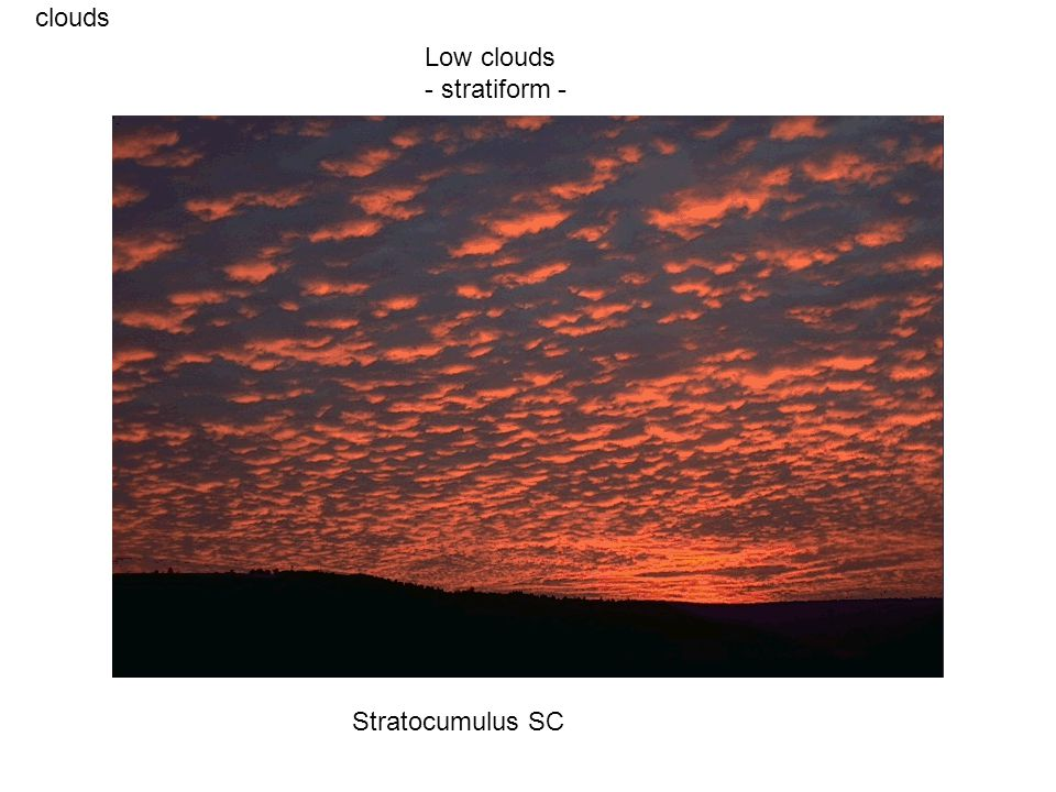 clouds Stratocumulus SC Low clouds - stratiform -