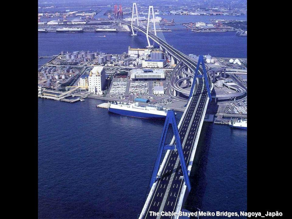 The Cable-Stayed Meiko Bridges, Nagoya_ Japão
