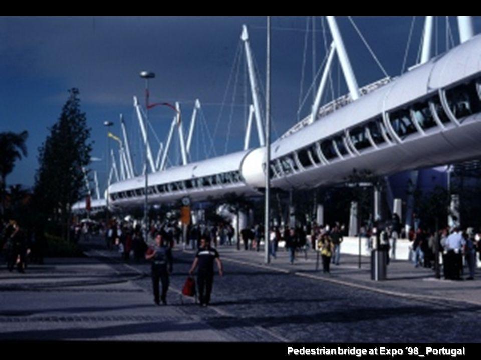 Pedestrian bridge at Expo ´98_ Portugal