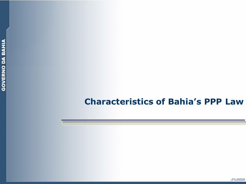 Characteristics of Bahias PPP Law