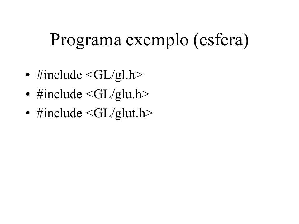 Programa exemplo (esfera) #include