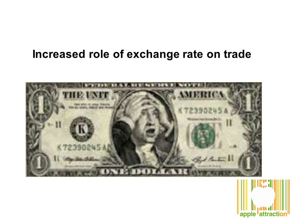 Increased role of exchange rate on trade