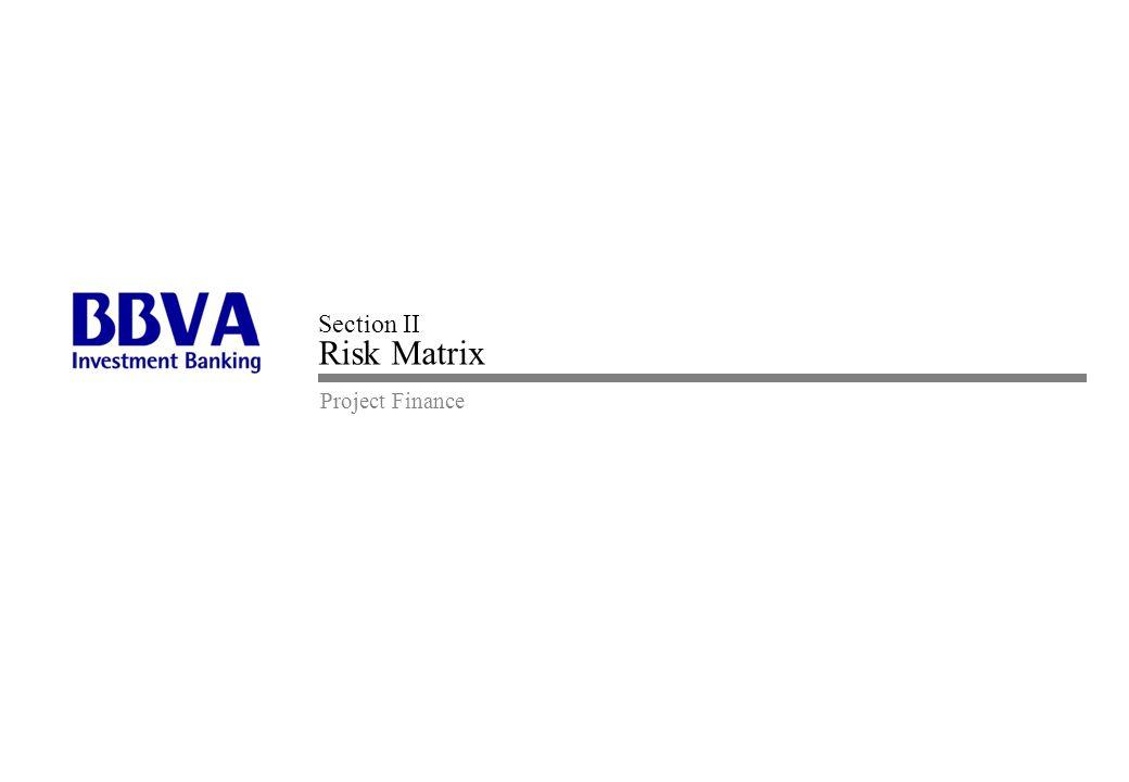 Project Finance Section II Risk Matrix