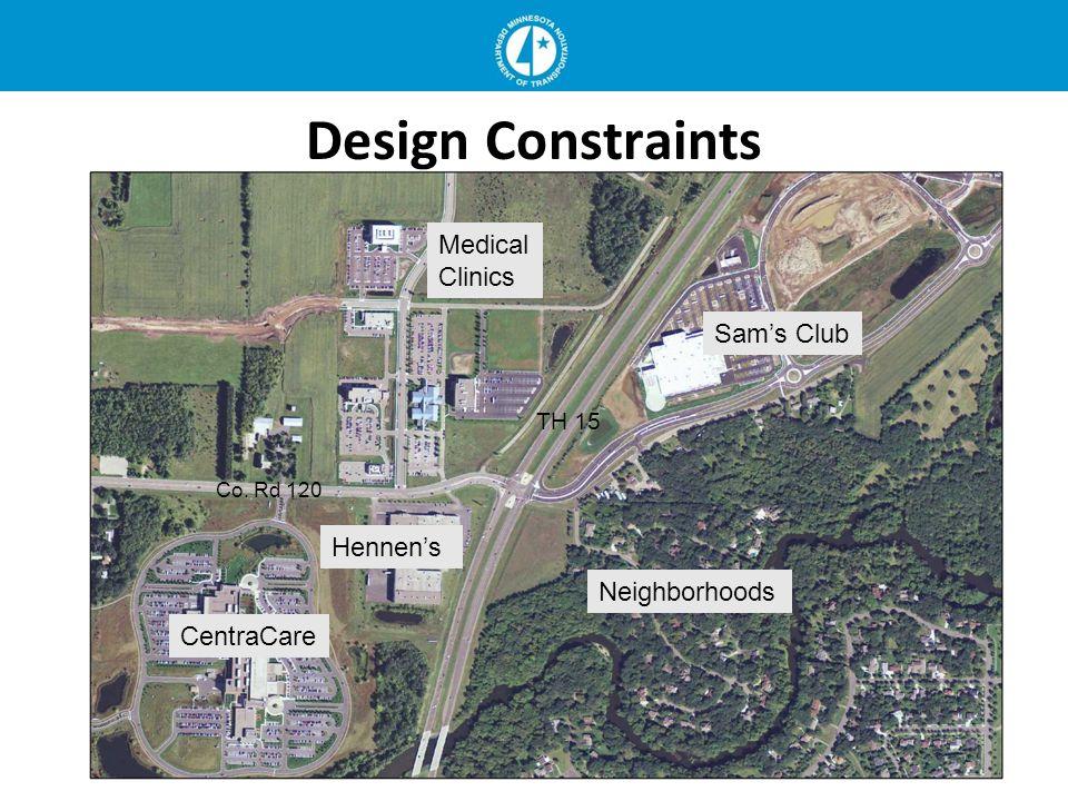 Design Constraints Medical Clinics Sams Club CentraCare Hennens Neighborhoods Co. Rd 120 TH 15