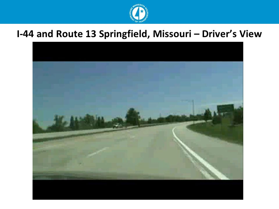 I-44 and Route 13 Springfield, Missouri – Drivers View