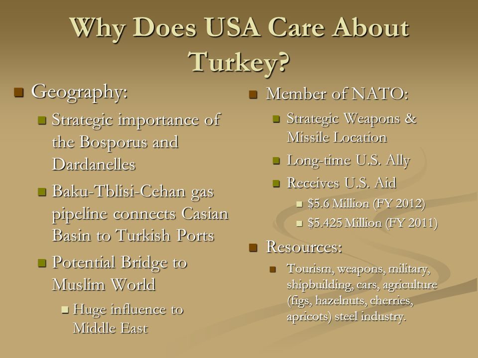 Why Does USA Care About Turkey.
