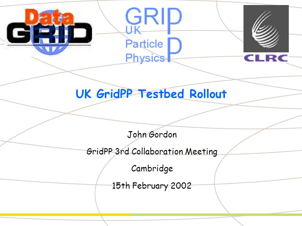 John Gordon - PMB- n° 2 Outline u Summary of EDG TB1 u Summary of site experiences u Rollout of Grid in the UK n as proposed by GridPP Technical Board