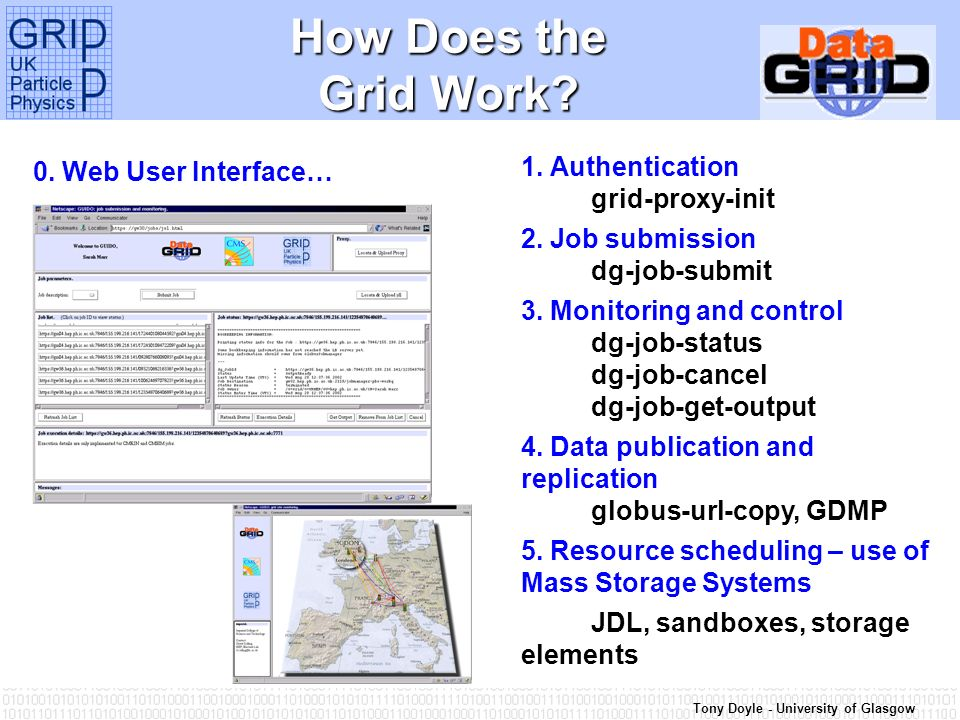 Tony Doyle - University of Glasgow How Does the Grid Work.